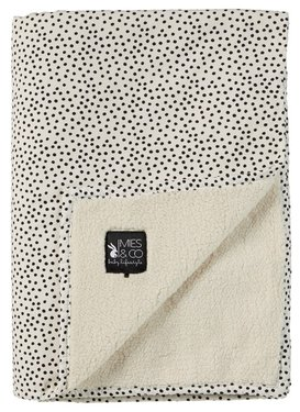 Mies & Co soft teddy deken Cozy Dots offwhite