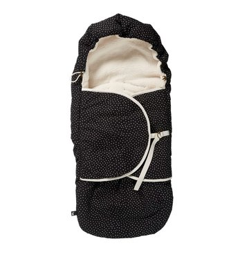 Mies & Co Voetenzak Baby Cozy Dots Black