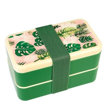 Lunchbox met vakjes tropical Palm