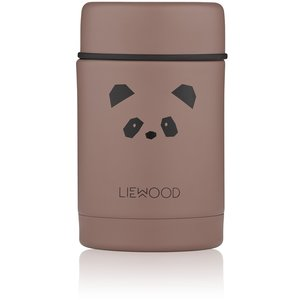Liewood nadja food jar cat dark roze voedselblik