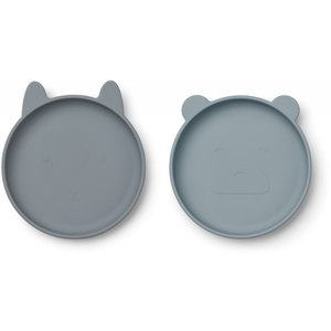 Liewood Olivia Siliconen Plate Blue
