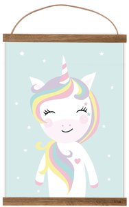 Poster Kinderkamer Unicorn