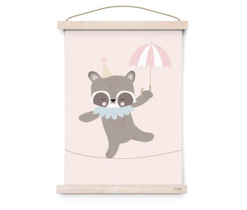 Eef Lillemor Poster Raccoon Rope dancer