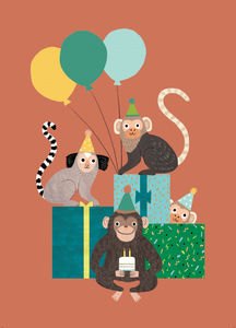 Petit Monkey kaart the monkey bunch rebecca jones