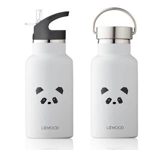 LIEWOOD thermische watr fles panda light grey