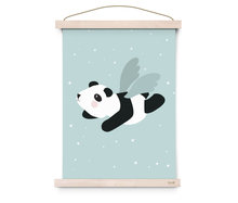 Kinderposter flying panda Eef Lillemor
