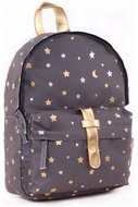 Kidzroom rugzak dark grey gold rush stars
